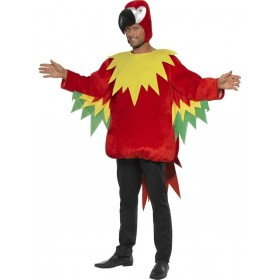 Parrot Fancy Dress Costume Mens Size 38-40 S (Animals)