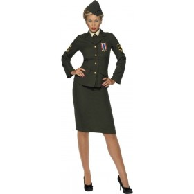 Wartime Officer Fancy Dress Costume Ladies (Army)