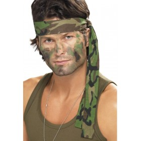 Army Headband - Fancy Dress (Army)