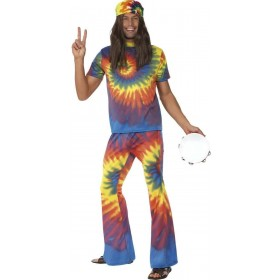 1960'S Tie Dye Top & Flared Trousers Costume (1960S)