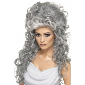 Medeia Witch Beehive Wig - Fancy Dress Ladies (Halloween) - Grey