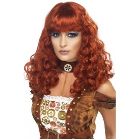 Steam Punk Female Wig (Halloween Wigs) - Auburn