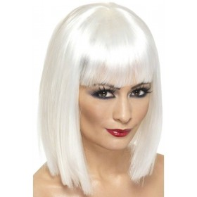 Glam Wig - Fancy Dress Ladies - White