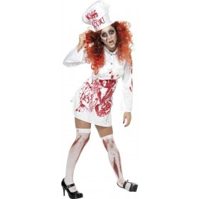 Butchers Bloody Apron And Hat - Fancy Dress (Halloween)