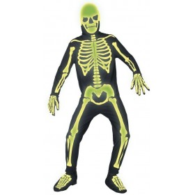 Gothic Manor Graveyard Bones Fancy Dress Costume Mens (Halloween)