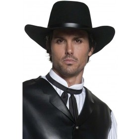 Authentic Western Gunslinger Hat - Fancy Dress Mens (Cowboys/Indians)