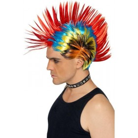 Street Punk 80'S Mohawk (1980S Fancy Dress Wigs) - (Multicolour)