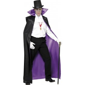 Count Reversible Cape - Fancy Dress Mens (Halloween)