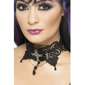 Gothic Lace Choker - Fancy Dress Ladies (Halloween)