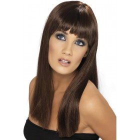 Glamourama Wig - Fancy Dress Ladies - Brown