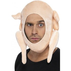 Stuffed Turkey Hat - Fancy Dress Mens (Christmas)