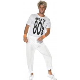 Made In 80'S Fancy Dress Costume Mens (1980S)