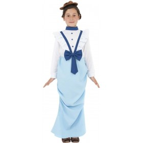 Posh Victorian Fancy Dress Costume Girls (Old English)