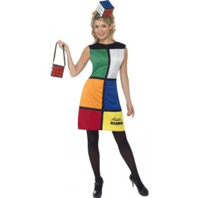 Rubik'S Cube With Headband Fancy Dress Costume