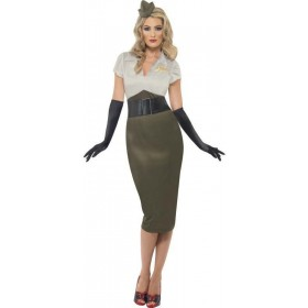 Ww2 Army Pin Up Spice Darling Fancy Dress Costume