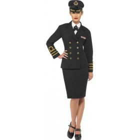 Navy Officer , Female Fancy Dress Costume