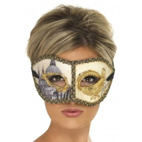 Venetian Colombina Venice Mask Fancy Dress