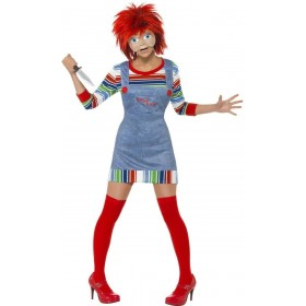 Chucky Fancy Dress Costume Ladies (1970S , 1980S , Film , Halloween , Tv)