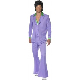 Lavender 1970'S Suit Fancy Dress Costume Mens (1970S)