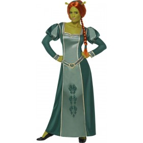 Shrek Fiona Fancy Dress Costume Ladies (Cartoon, Fairy Tales, Film)