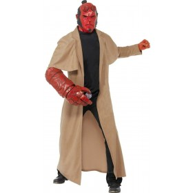 Hellboy Fancy Dress Costume Mens Size 38-40 S (Cartoon, Film,Heroes)