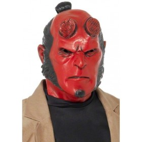 Hellboy Mask Fancy Dress Mens (Cartoon, Film, Halloween, Heroes, Sci-Fi, Tv)