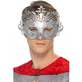 Columbine Silver Mask Fancy Dress