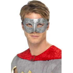Metallic Warrior Colombina Eyemask Fancy Dress