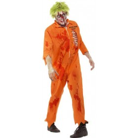 Mens Orange Zombie Death Row Inmate