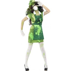 Ladies Green Biohazard Female  (Fancy Dress Costume)