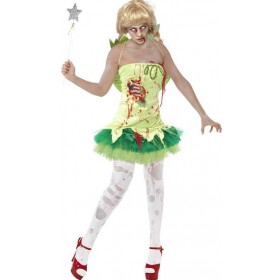Ladies Green Zombie Fairy  (Fancy Dress Costume)