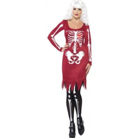 Ladies Red Beauty Bones  (Fancy Dress Costume)