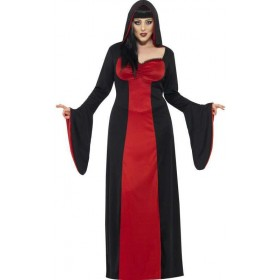 Ladies Black/Red Dark Temptress  (Fancy Dress Costume)