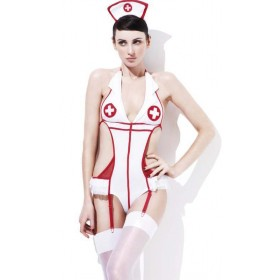 Ladies Sexy Fever Feel Good Nurse Fancy Dress Costume