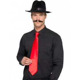 Deluxe Red Gangster Tie Fancy Dress Accessory