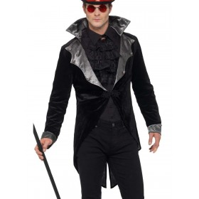 Gothic Vampire Jacket Fancy Dress Costume