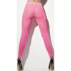 Ladies Neon Pink Opaque Footless Tights 80'S/Punk Style