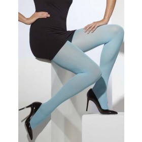 Ladies Blue Opaque Tights