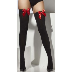 Ladies Black Opaque Hold-Ups