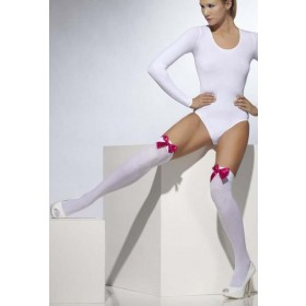Ladies White Opaque Hold-Ups