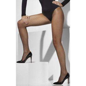 Ladies Black Lattice Net Tights