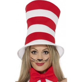 Adults Cat In The Hat (Hat) Fancy Dress Accessory
