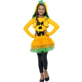 Girls Orange Pumpkin Tutu Dress  (Fancy Dress Costume)