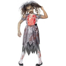 Girls Grey Zombie Bride  (Fancy Dress Costume)