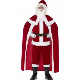 Deluxe Santa Claus Costume with Trousers Fancy Dress