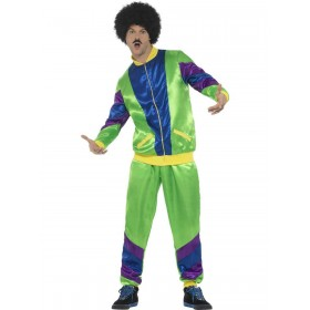 80s Height of Fashion Shell Suit Costume, Male Fancy Dress