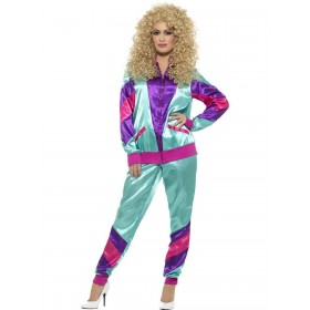 80s Height of Fashion Shell Suit Costume, Female Fancy Dress