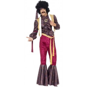 Men'S 70'S Psychedelic Rock God Fancy Dress Costume
