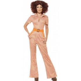 Ladies Authentic 70'S Chic Fancy Dress Costume