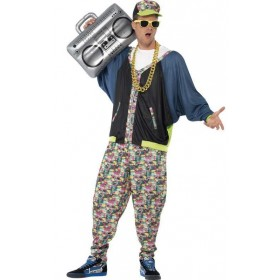 Men'S 80'S Street Hip Hop Fancy Dress Costume
